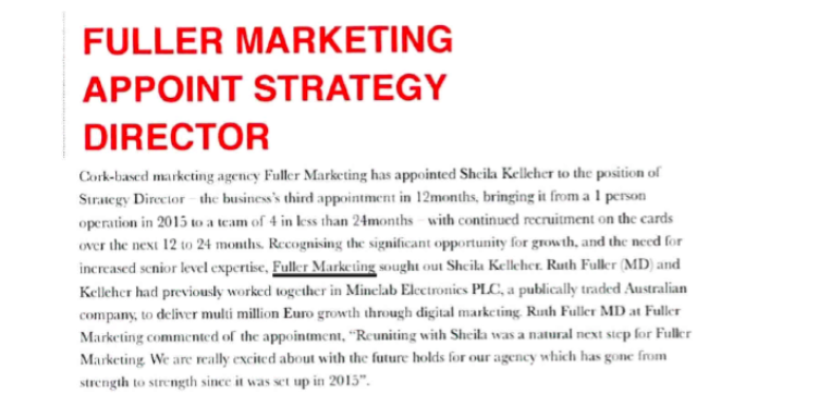 Fuller Marketing Appoint Strategy Director